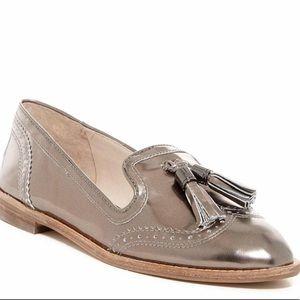 Louise et Cie metallic tassel loafers size 8.5